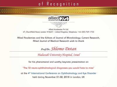 Dr. Shlomo Dotan Certificate-1
